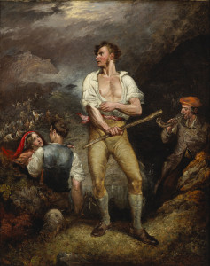 "Daniel Macdonald, ""The Fighter,"" 1844, oil on canvas. Image courtesy of Sir Michael Smurfit."