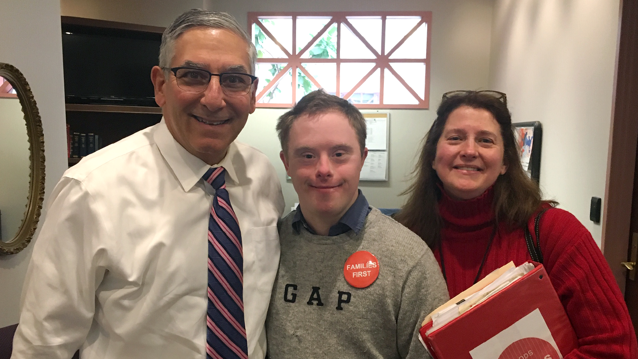 Sen. Fasano Joins Families, Advocates Urging Support for Individuals with Disabilities