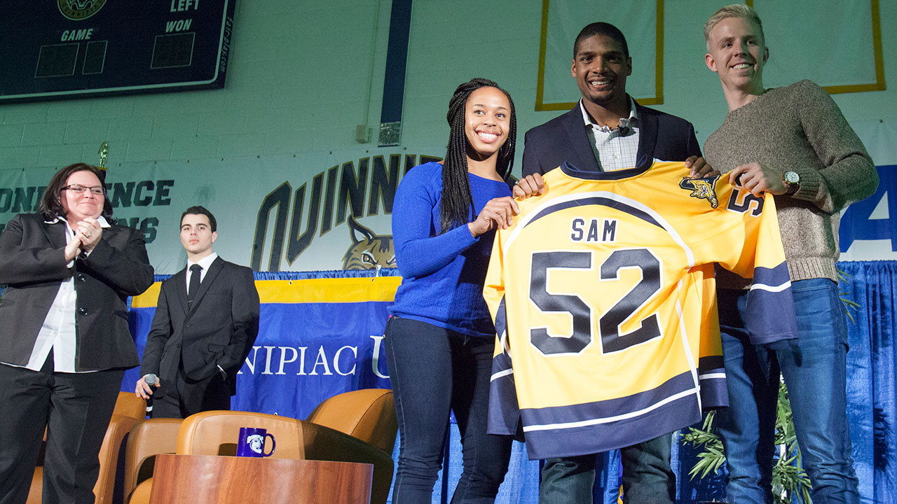 Michael Sam at QU